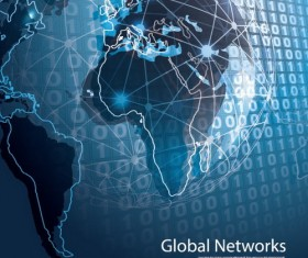 Clobal network business template vector 06