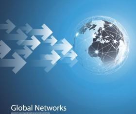 Clobal network business template vector 07