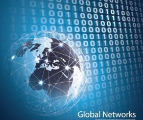 Clobal network business template vector 09