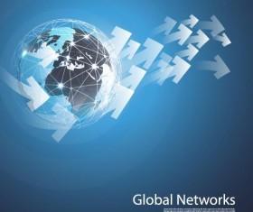 Clobal network business template vector 10