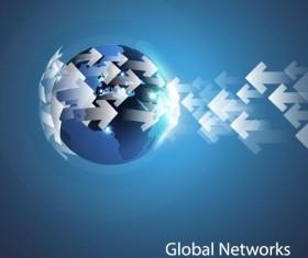 Clobal network business template vector 11