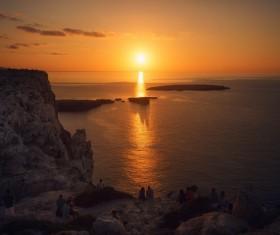 Coast dusk sunset beauty Stock Photo