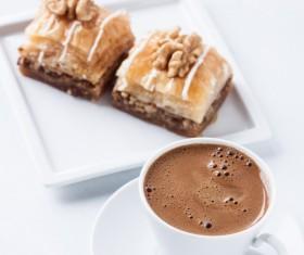 Coffee and walnut cookies Stock Photo