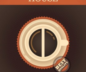 Coffee house poster template vector