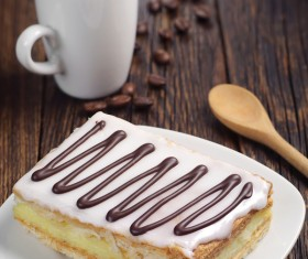 Coffee with delicious dessert Stock Photo 06