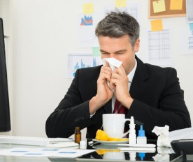 Colds man Stock Photo 02