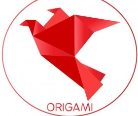 Color origami bird vector illustration 03