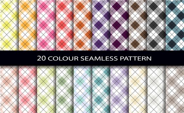 Color seamless pattern vintage vector