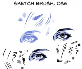 Comic lines Photoshop Brushes