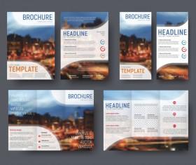Corporat style brochure cover vecto