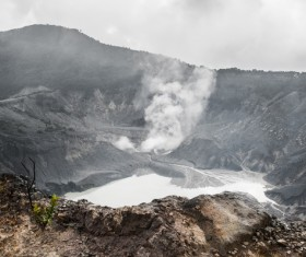 Crater in natural landscape lake Stock Photo 02