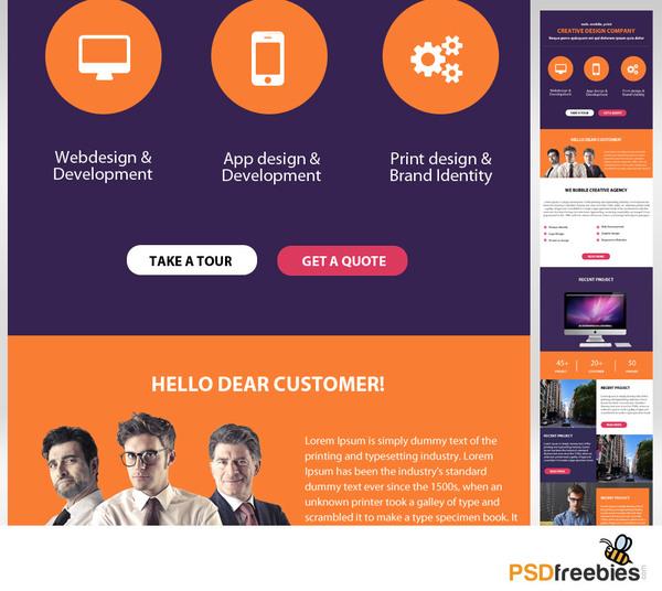 Creative Design Corporate Website PSD Template