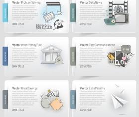 Creative website banner design vector