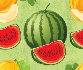 Different melon pattern seamless vector