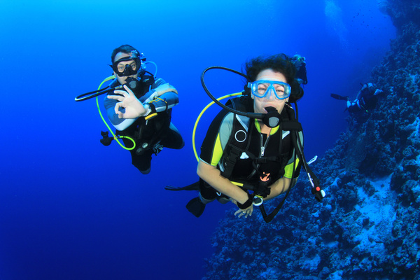 Diver with beautiful underwater world Stock Photo 07