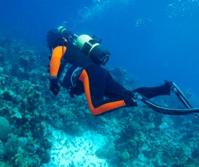 Diver with beautiful underwater world Stock Photo 10