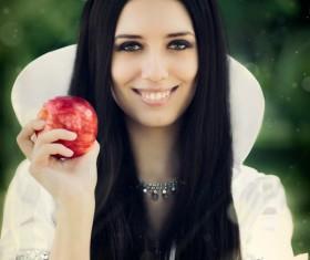Dress up Snow White girl Stock Photo 01