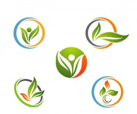 Eco life logo design vector