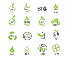 Eco with bio logos design vector