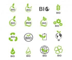 Eco with bio logos design vector