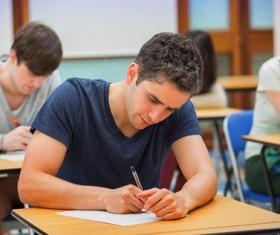 Examination of college students Stock Photo