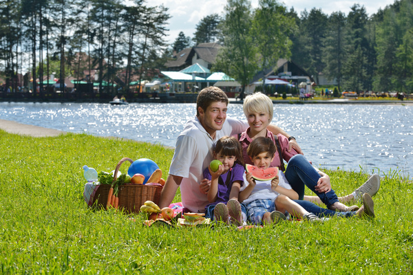 Family Sunday outing Stock Photo 01