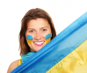 Fans from different countries Stock Photo 02