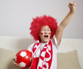 Fans from different countries Stock Photo 04