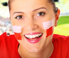 Fans from different countries Stock Photo 06