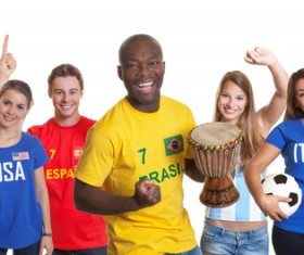 Fans from different countries Stock Photo 09