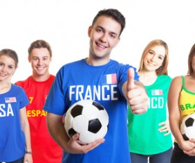 Fans from different countries Stock Photo 10