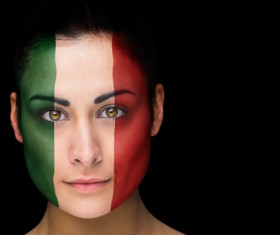 Fans from different countries Stock Photo 11