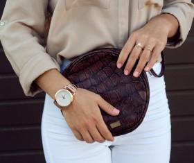 Fashion waist bag Stock Photo 04