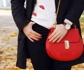 Fashion waist bag Stock Photo 05