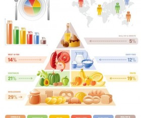 Fast food infographic vectors 01