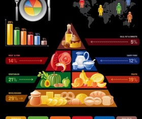 Fast food infographic vectors 02