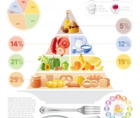 Fast food infographic vectors 03