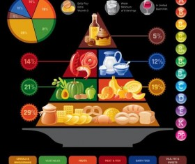 Fast food infographic vectors 04
