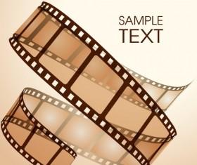 Film sample background vector
