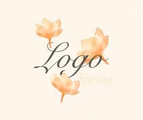 Flower watercolor logo vector 02