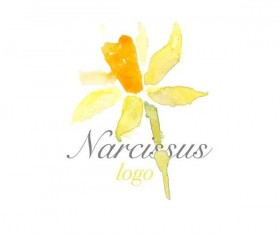 Flower watercolor logo vector 05