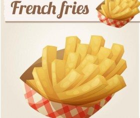 Frech fries vector material 01