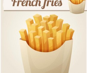 Frech fries vector material 02