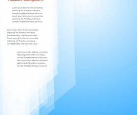 Fresh blue background modern design vector