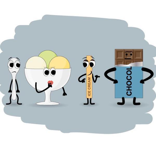 Funny food cartoon personage vector 02