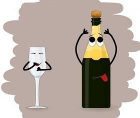 Funny food cartoon personage vector 05