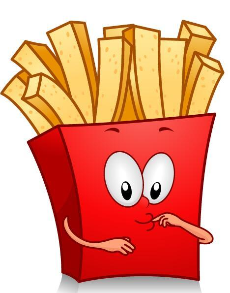 Funny french fries cartoon vector 01