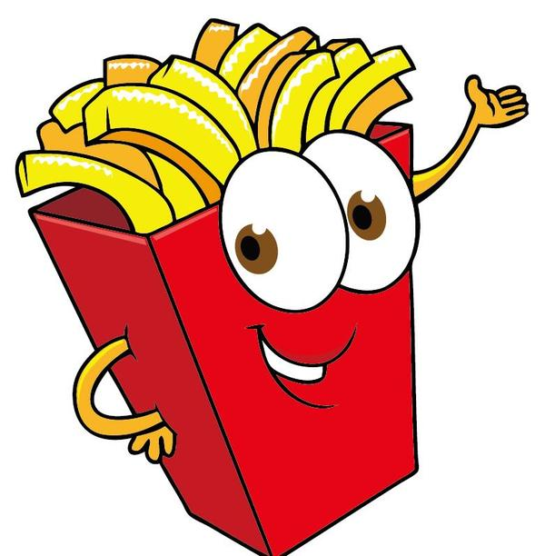 Funny french fries cartoon vector 02