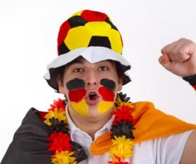 German male fans Stock Photo