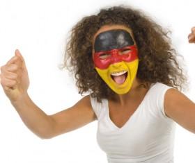 German women fans Stock Photo